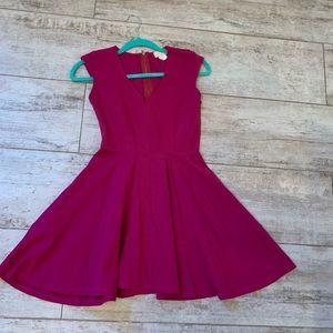 Love...Ady Cranberry pink flowy dress in medium
